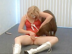 Caledonian - Aurora Bliss Doggy Dildo Action